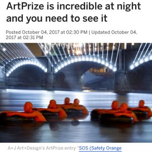 ArtPrize is incredible at night and you need to see it
